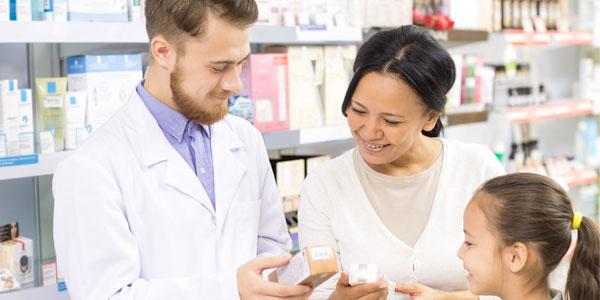 Pharmacist Helping Family